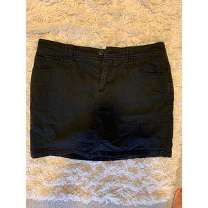 St John's Bay Black Miniskirt